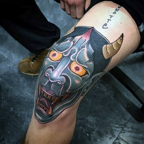 japanese tattoo knee 50 japanese demon tattoo designs for men oni ink ideas