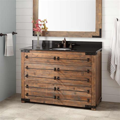 bathroom vantiy 48 quot bonner reclaimed wood vanity for undermount sink