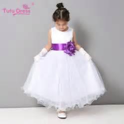 flower dresses summer cheap white stain dress for children toddler kids wedding tutu dress
