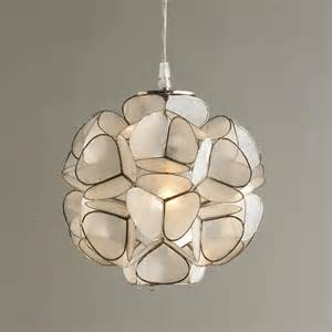 flower pendant light capiz shell flower pendant light