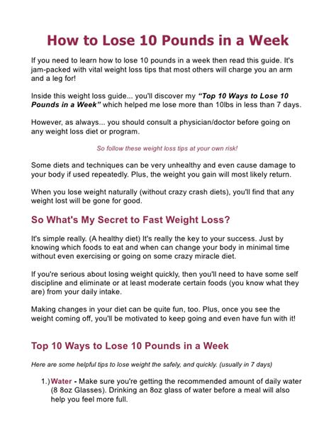 Detox Diet To Lose 10 Pounds In 2 Weeks by 10 Lbs In 2 Weeks Diet