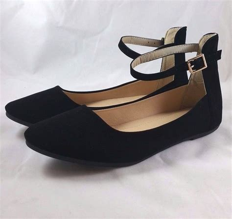 flat shoes with straps new ankle ballet flats casual slip on