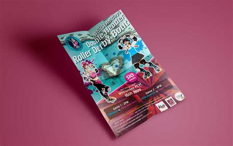 leaflet design derby flyer design roller derby parkart