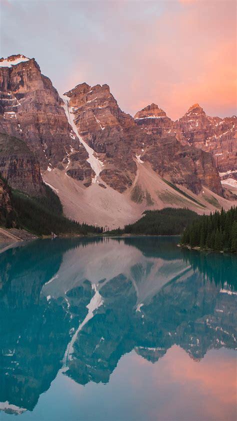 ns lake mountain pink sunset nature wallpaper