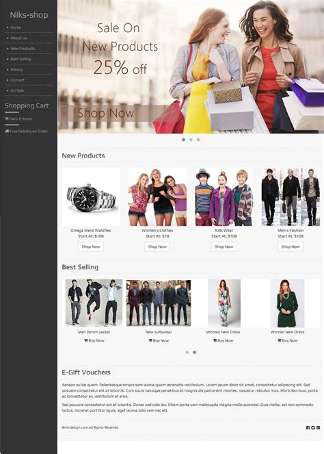 online shopping template free download