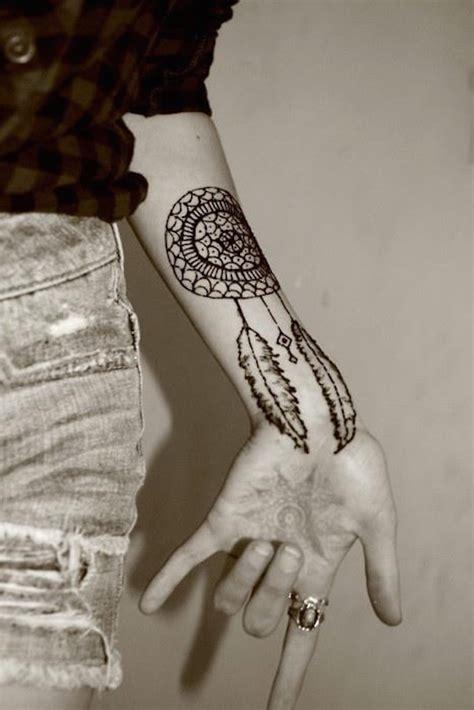 dream catcher henna tattoo tumblr 166 dreamcatcher tattoos for a sleep