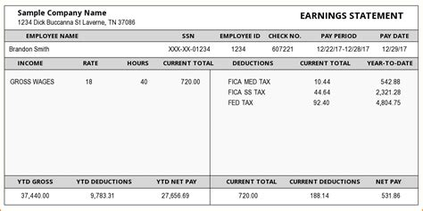 5 Exles Of Pay Stubs Secure Paystub Sle Check Stub Template