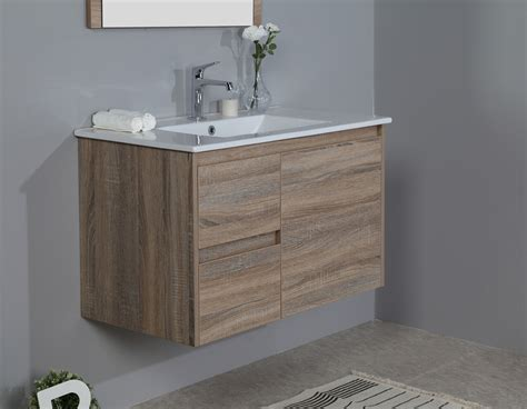 Wall Hung Vanity by 900mm Oak Wall Hung Vanity Cabinet Only Bathroom