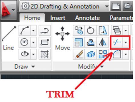 autocad tutorial trim command autocad trim 12cad com