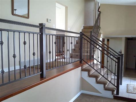 Interior Metal Handrails interior iron railing traditional staircase other metro by colorado custom iron works inc