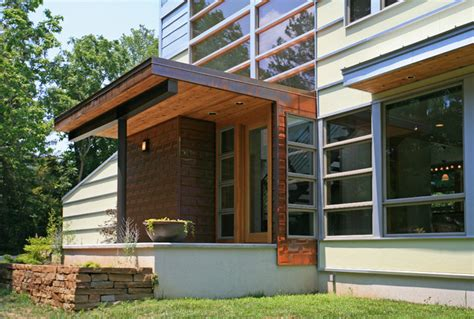 Front To Back Split Level House Plans by Romwoods Porch Contemporary Entry By Demx Architecture