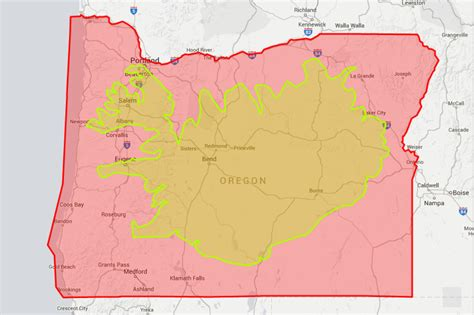 map of oregon units if oregon were a storage unit what countries would fit