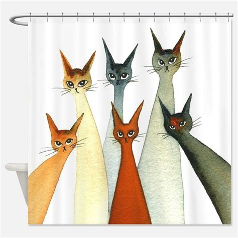 Cat Shower Curtains cat shower curtains cat fabric shower curtain liner