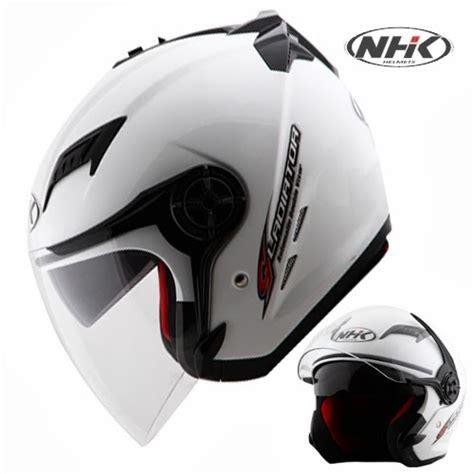 Helm Nhk Kualitas Terbaik Helm Nhk R6 Rally Black Silver Half daftar harga terbaru helm nhk tahun 2016