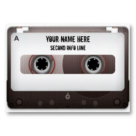 17 best images about cassette tape business cards on