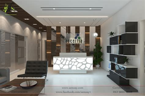 software house reception area designed by aenzay aenzay interiors architecture
