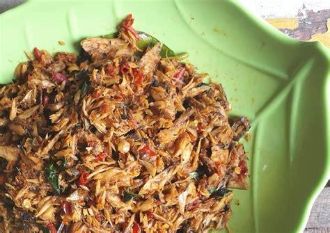 tongkol suwir pedas kemangi endessss resep makanan