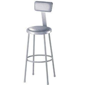 Padded Stool With Backrest by 30inh Padded Stool With Backrest Ica269 By National