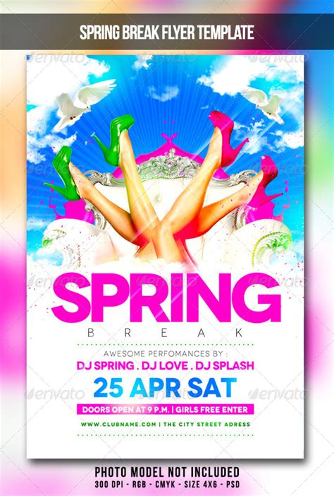spring break flyer by maksn graphicriver