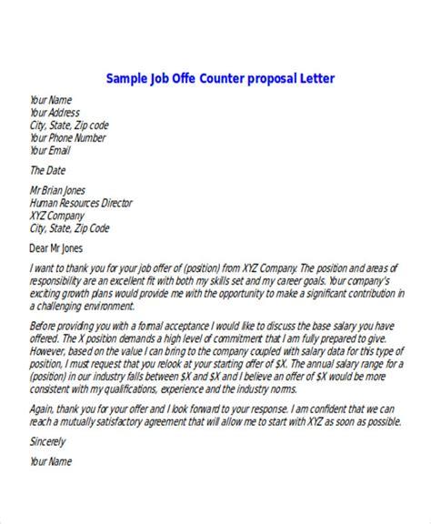 sample proposal offer letter templates ms