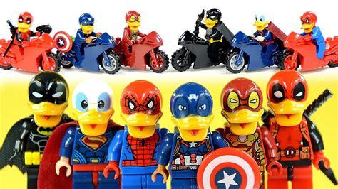 Lego Batman Duck Set superman captain america batman iron spider