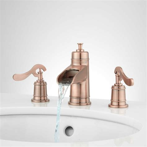 Antique Brass Sink Faucet Signature Hardware Bathroom Water Faucet