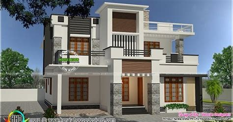 3 bedroom modern flat roof 28 images gandul 3 bedroom contemporary flat roof 2080 sq ft modern flat roof 2971 sq ft kerala home design and floor plans