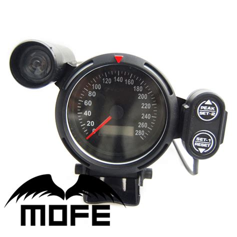 green light auto group original logo white led 80mm digital odometer speedometer