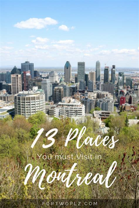 places   visit  montreal