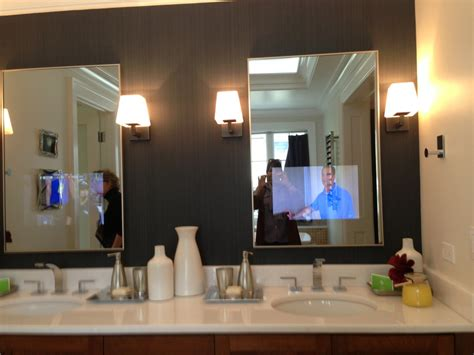 Bathroom Mirrors With Tv Built In Fantastic Gray Tv Bathroom Mirror