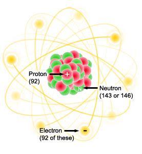 uranium protons and neutrons uranium atoms