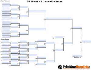 fillable 16 team 3 game guarantee tourney bracket
