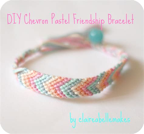 diy chevron pastel friendship bracelet friendship