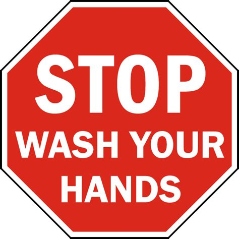 bathroom signs wash your hands stop wash hands sign by safetysign com d5821