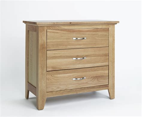 3 drawer chest of drawers oak compton solid oak furniture three drawer bedroom chest of