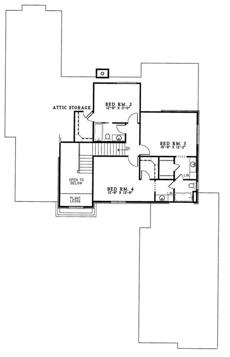 Second Story Floor Plans European House Plans Home Design Ndg259 3309