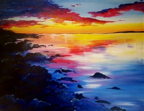 paint nite zukey lake lakeside st coffee house wine and bar 07 20 2 paint