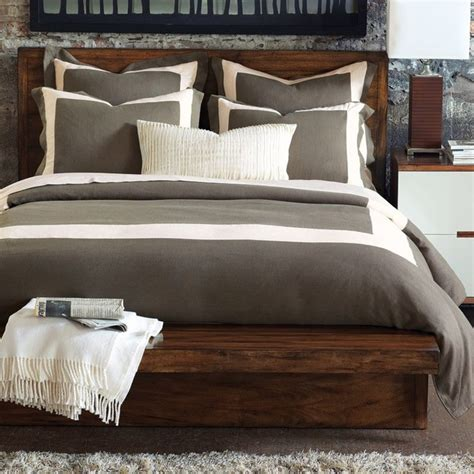 Duvet And Duvet Cover Sets Mitered Linen Clay With Pearl Duvet Cover