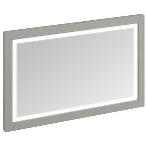 burlington bathroom mirror burlington 1200mm dark olive framed mirror with led illumination m12mo