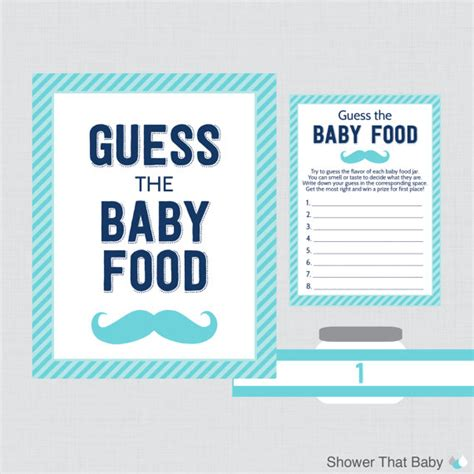 mustache baby shower guess the baby food baby shower game