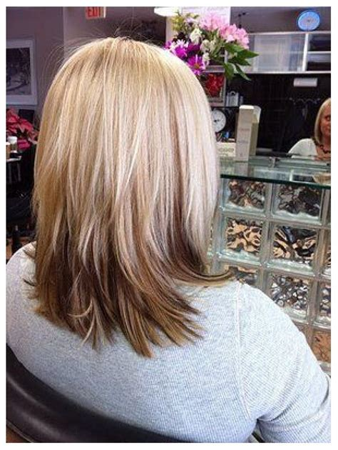 bobbed hair cuts with light coulr at bottom i like this but maybe the bottom layer be a crazy color