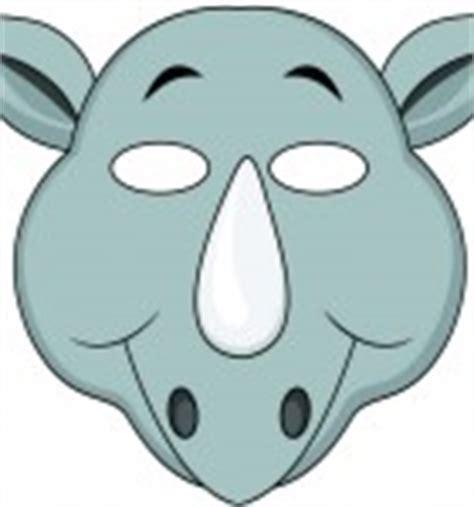 printable rhino mask jungle masks