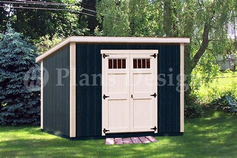 6x10 Lean To Shed 6 X 10 Classic Deluxe Modern Storage Shed Plans Design