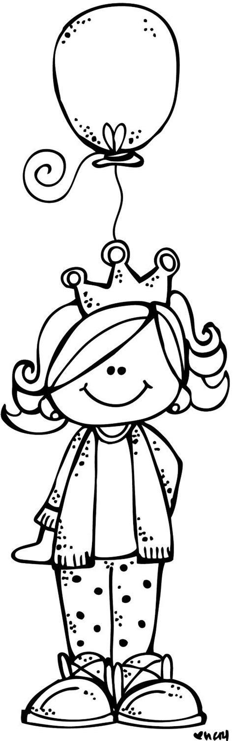 birthday princess  color stuff clip art drawing