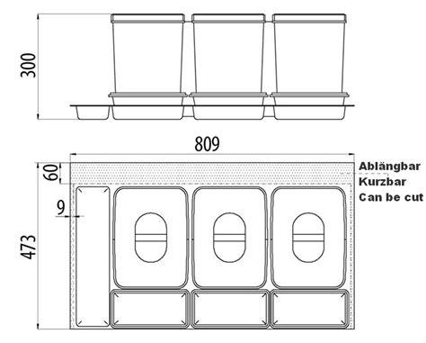 schubladen trennsystem trennsystem f 252 r schubladen mit 3x15l sammler und 3