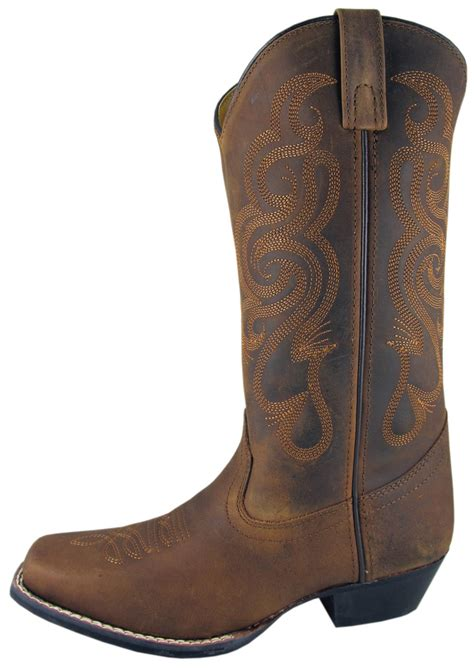 smoky mountain boots womens lariat brown leather