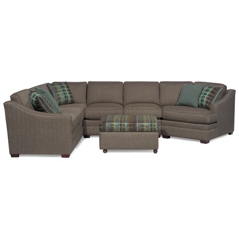 sectional sofa with cuddler customizable 3 sectional with raf cuddler by craftmaster wolf and gardiner wolf furniture