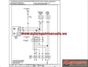 international truck 5000i 9200i 9400i and 9900i chassis built electrical circuit diagram auto