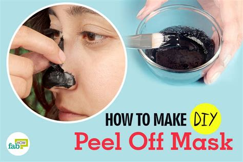 peel mask diy blackhead peel mask diy