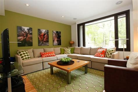 21 gorgeous living rooms with accent walls of all styles green accent wall living room